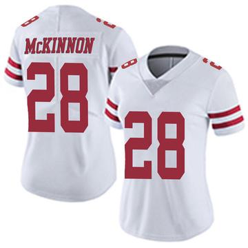 Women's Nike San Francisco 49ers Jerick McKinnon White Vapor Untouchable Jersey - Limited