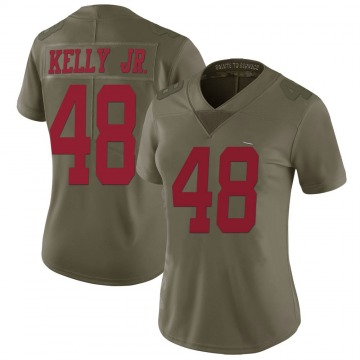 Women's Nike San Francisco 49ers Jermaine Kelly Jr. Green 2017 Salute to Service Jersey - Limited