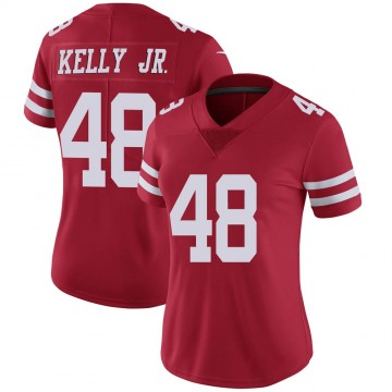Women's Nike San Francisco 49ers Jermaine Kelly Jr. Red Team Color Vapor Untouchable Jersey - Limited