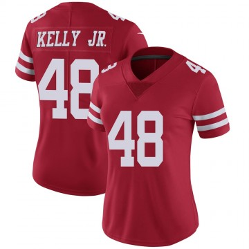 Women's Nike San Francisco 49ers Jermaine Kelly Jr. Scarlet 100th Vapor Jersey - Limited