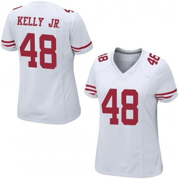 Women's Nike San Francisco 49ers Jermaine Kelly Jr. White Jersey - Game