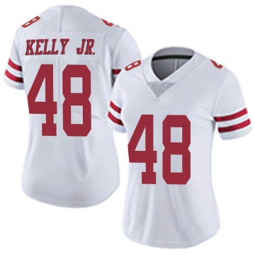Women's Nike San Francisco 49ers Jermaine Kelly Jr. White Vapor Untouchable Jersey - Limited