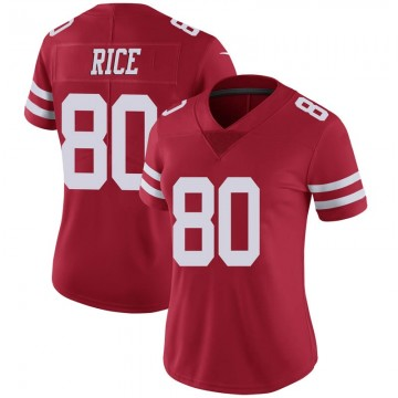 Women's Nike San Francisco 49ers Jerry Rice Scarlet 100th Vapor Jersey - Limited