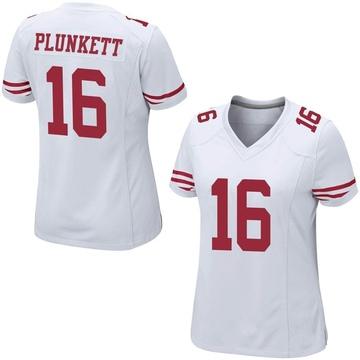 Women's Nike San Francisco 49ers Jim Plunkett White Jersey - Game