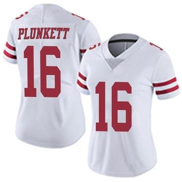 Women's Nike San Francisco 49ers Jim Plunkett White Vapor Untouchable Jersey - Limited
