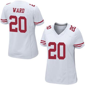Women's Nike San Francisco 49ers Jimmie Ward White Jersey - Game