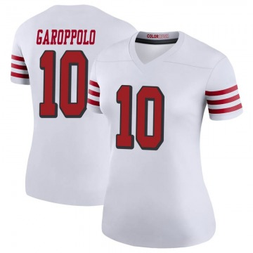 Women's Nike San Francisco 49ers Jimmy Garoppolo White Color Rush Jersey - Legend