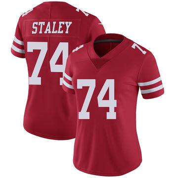 Women's Nike San Francisco 49ers Joe Staley Scarlet 100th Vapor Jersey - Limited