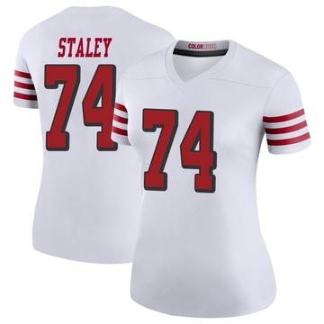 Women's Nike San Francisco 49ers Joe Staley White Color Rush Jersey - Legend