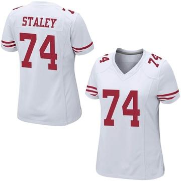 Women's Nike San Francisco 49ers Joe Staley White Jersey - Game