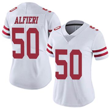 Women's Nike San Francisco 49ers Joey Alfieri White Vapor Untouchable Jersey - Limited