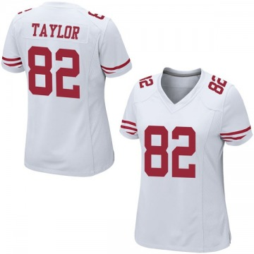 Women's Nike San Francisco 49ers John Taylor White Jersey - Game