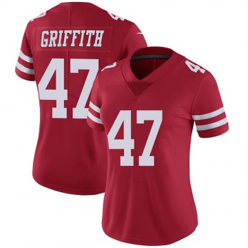 Women's Nike San Francisco 49ers Jonas Griffith Scarlet 100th Vapor Jersey - Limited
