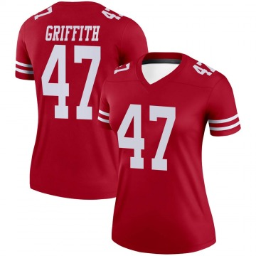 Women's Nike San Francisco 49ers Jonas Griffith Scarlet Jersey - Legend