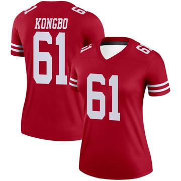 Women's Nike San Francisco 49ers Jonathan Kongbo Scarlet Jersey - Legend