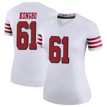 Women's Nike San Francisco 49ers Jonathan Kongbo White Color Rush Jersey - Legend