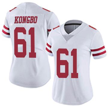 Women's Nike San Francisco 49ers Jonathan Kongbo White Vapor Untouchable Jersey - Limited