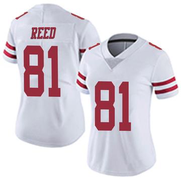 Women's Nike San Francisco 49ers Jordan Reed White Vapor Untouchable Jersey - Limited