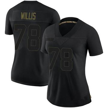 Women's Nike San Francisco 49ers Jordan Willis Black 2020 Salute To Service Jersey - Limited