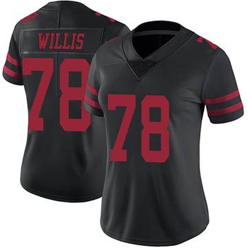 Women's Nike San Francisco 49ers Jordan Willis Black Alternate Vapor Untouchable Jersey - Limited