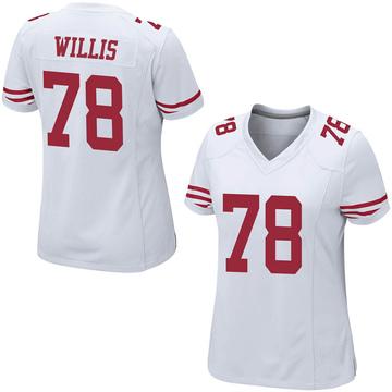 Women's Nike San Francisco 49ers Jordan Willis White Jersey - Game
