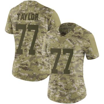 Women's Nike San Francisco 49ers Jullian Taylor Camo 2018 Salute to Service Jersey - Limited