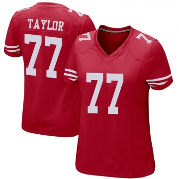 Women's Nike San Francisco 49ers Jullian Taylor Red Team Color Jersey - Game