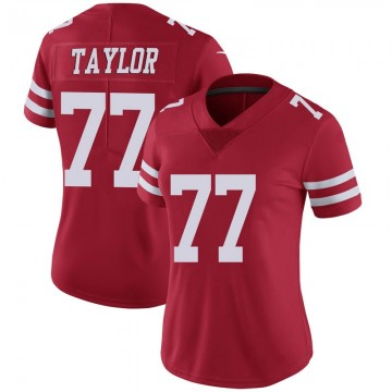 Women's Nike San Francisco 49ers Jullian Taylor Scarlet 100th Vapor Jersey - Limited