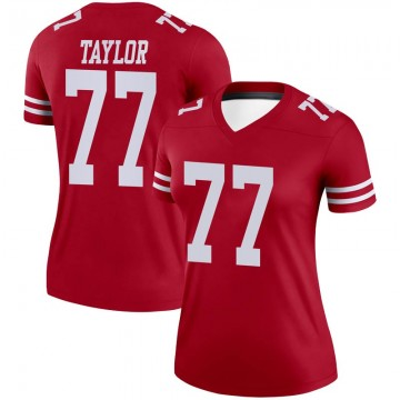 Women's Nike San Francisco 49ers Jullian Taylor Scarlet Jersey - Legend