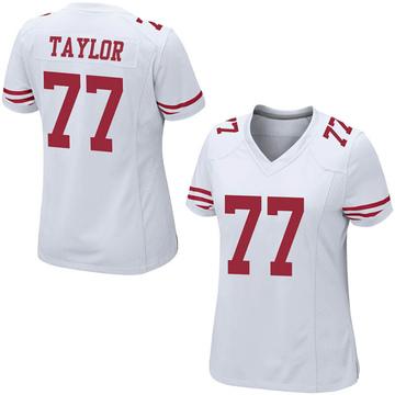 Women's Nike San Francisco 49ers Jullian Taylor White Jersey - Game