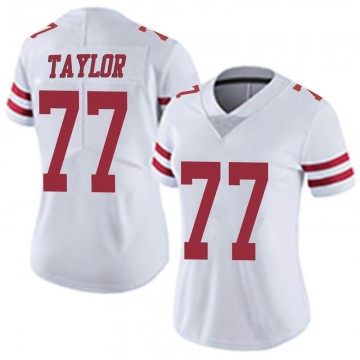 Women's Nike San Francisco 49ers Jullian Taylor White Vapor Untouchable Jersey - Limited