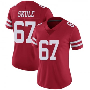 Women's Nike San Francisco 49ers Justin Skule Red Team Color Vapor Untouchable Jersey - Limited
