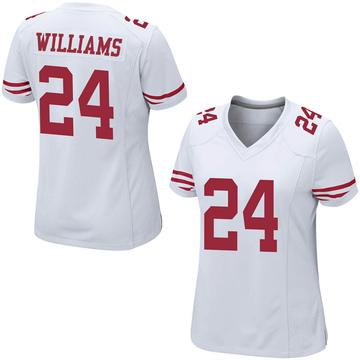Women's Nike San Francisco 49ers K'Waun Williams White Jersey - Game