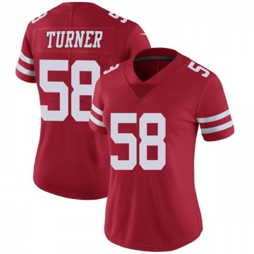 Women's Nike San Francisco 49ers Keena Turner Red Team Color Vapor Untouchable Jersey - Limited