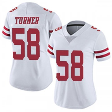 Women's Nike San Francisco 49ers Keena Turner White Vapor Untouchable Jersey - Limited