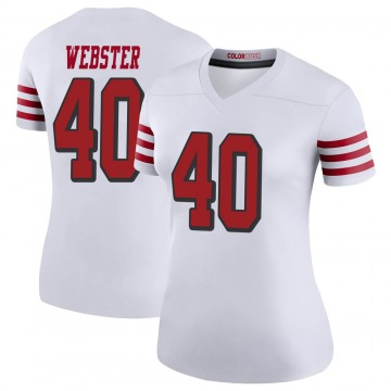 Women's Nike San Francisco 49ers Ken Webster White Color Rush Jersey - Legend