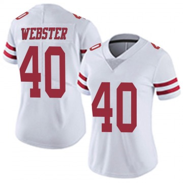 Women's Nike San Francisco 49ers Ken Webster White Vapor Untouchable Jersey - Limited