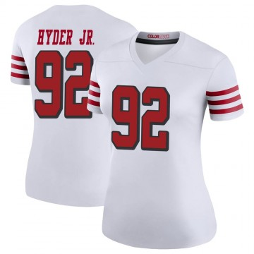 Women's Nike San Francisco 49ers Kerry Hyder White Color Rush Jersey - Legend