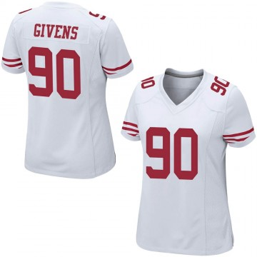 Women's Nike San Francisco 49ers Kevin Givens White Jersey - Game