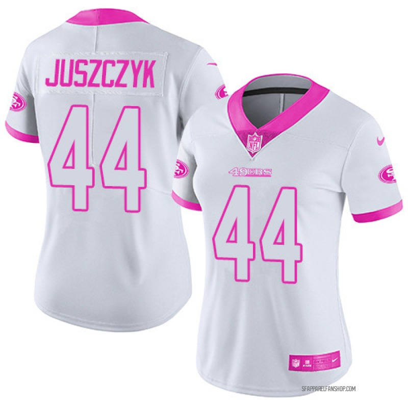 on sale a48aa 6fe8e Women's Nike San Francisco 49ers Kyle Juszczyk Pink White/ Color Rush  Fashion Jersey - Limited