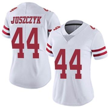 Women's Nike San Francisco 49ers Kyle Juszczyk White Vapor Untouchable Jersey - Limited