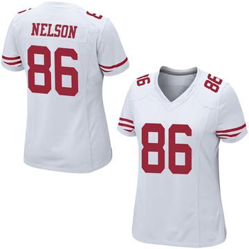 Women's Nike San Francisco 49ers Kyle Nelson White Jersey - Game