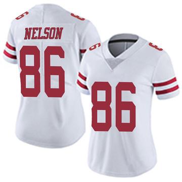 Women's Nike San Francisco 49ers Kyle Nelson White Vapor Untouchable Jersey - Limited