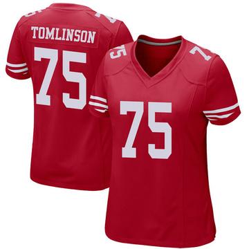 Women's Nike San Francisco 49ers Laken Tomlinson Red Team Color Jersey - Game