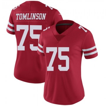 Women's Nike San Francisco 49ers Laken Tomlinson Scarlet 100th Vapor Jersey - Limited