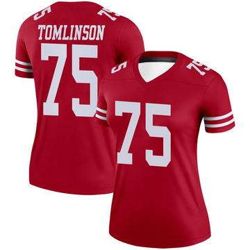 Women's Nike San Francisco 49ers Laken Tomlinson Scarlet Jersey - Legend