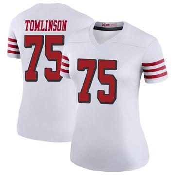 Women's Nike San Francisco 49ers Laken Tomlinson White Color Rush Jersey - Legend