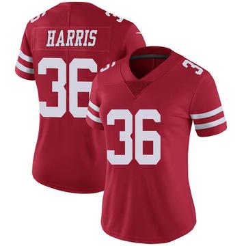 Women's Nike San Francisco 49ers Marcell Harris Scarlet 100th Vapor Jersey - Limited