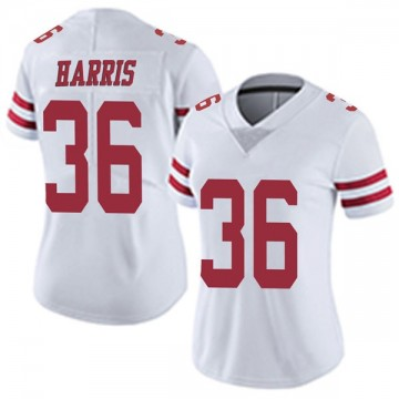 Women's Nike San Francisco 49ers Marcell Harris White Vapor Untouchable Jersey - Limited
