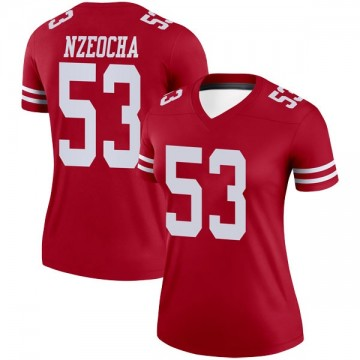 Women's Nike San Francisco 49ers Mark Nzeocha Scarlet Jersey - Legend
